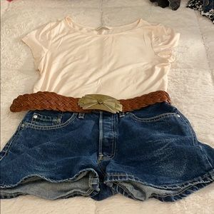 PAle pink banana Republic top